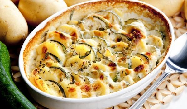 Огретен от картофи и тиквички