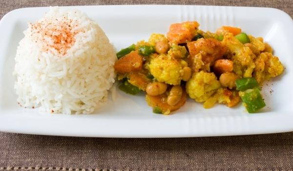 Карфиол с ориз по алжирски