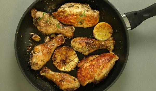 Чесново пиле с лимон