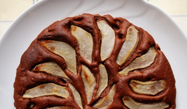 Шоколадов пирог с круши