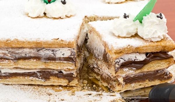 Бърза торта с настърган шоколад